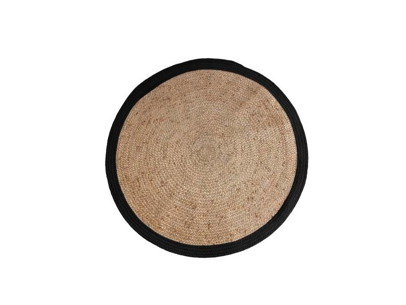 hkliving rug round black  cm  living and company, Rug/