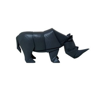 HK-Living Rhino Geo black wood