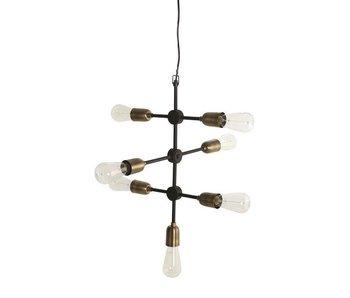 House Doctor Molecular hanging lamp grey metal