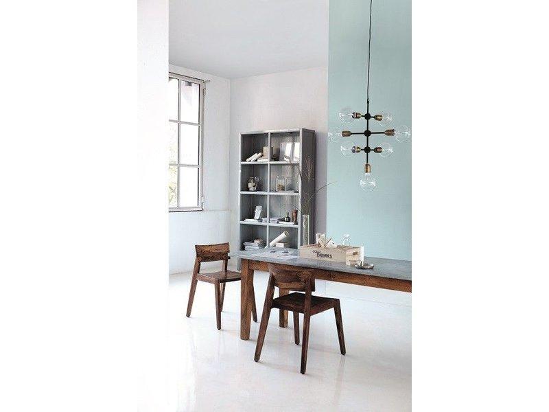house doctor molekulare anh nger hellgrau metall living and co. Black Bedroom Furniture Sets. Home Design Ideas