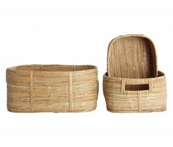 House Doctor Chaka set of 3 rattan baskets