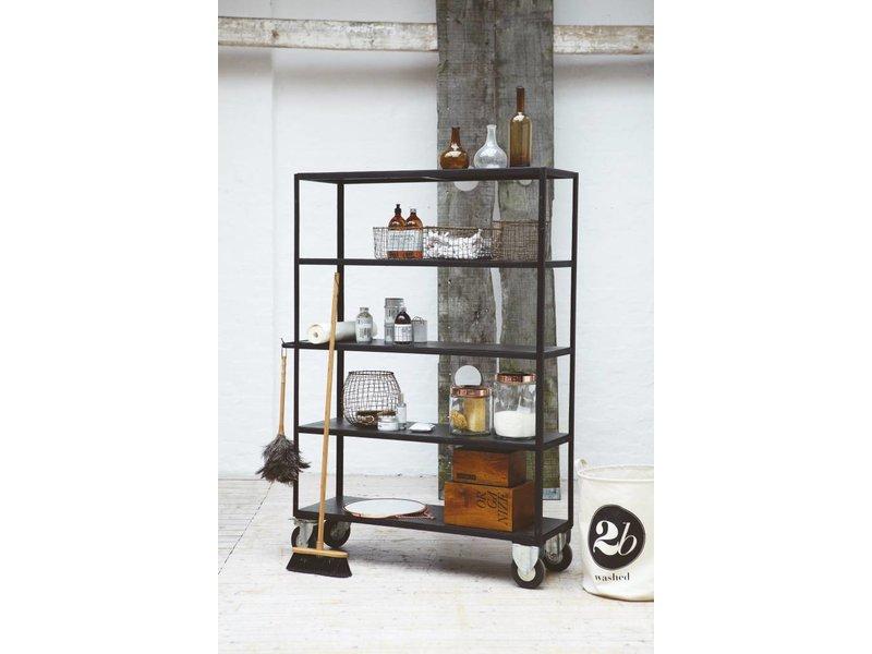 house doctor hyller reoler p hjul black metal living and co. Black Bedroom Furniture Sets. Home Design Ideas