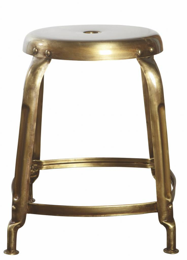 House Doctor Definieren Hocker Gold - LIVING AND CO.