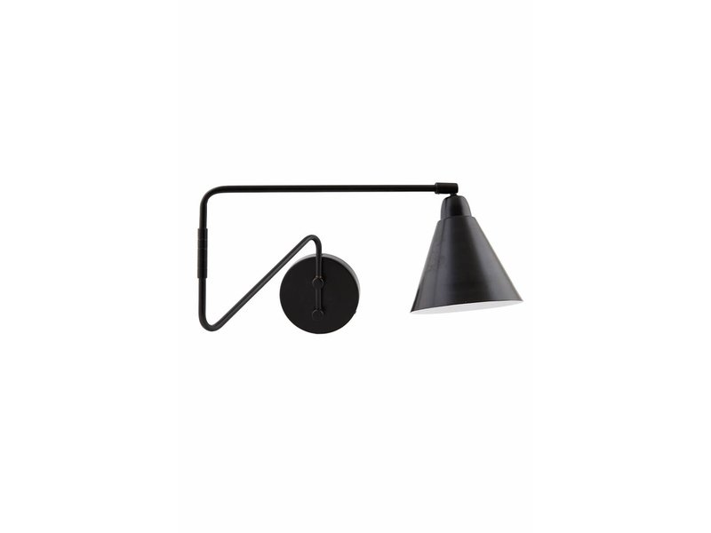 House Doctor Jeu lampe de mur en métal noir