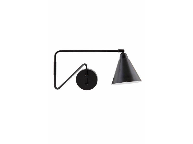 House Doctor lámpara de pared de metal del juego negro