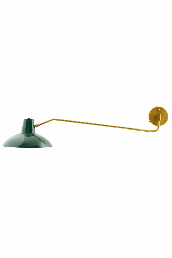 House Doctor Desk Wall Lamp Green Metal Living And Co