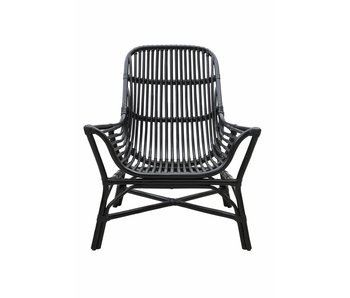 House Doctor Colony Rattan Lounge-Sessel schwarz