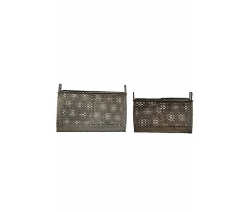 House Doctor Mesh set of 2 iron baskets
