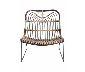 House Doctor Kawa chaise longue en rotin