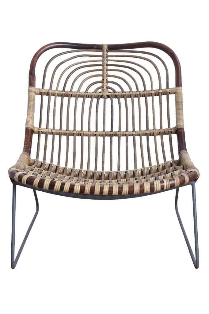 House doctor kawa chaise longue en rotin living and co for Chaise longue rotin