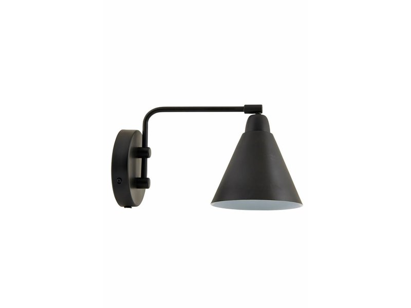 House Doctor Game wall lamp black white metal