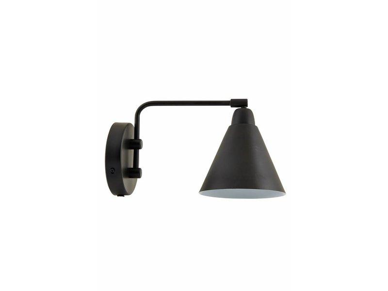 House doctor lampada da parete di gioco nero metallo bianco