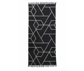 House Doctor Phantom rug black and white