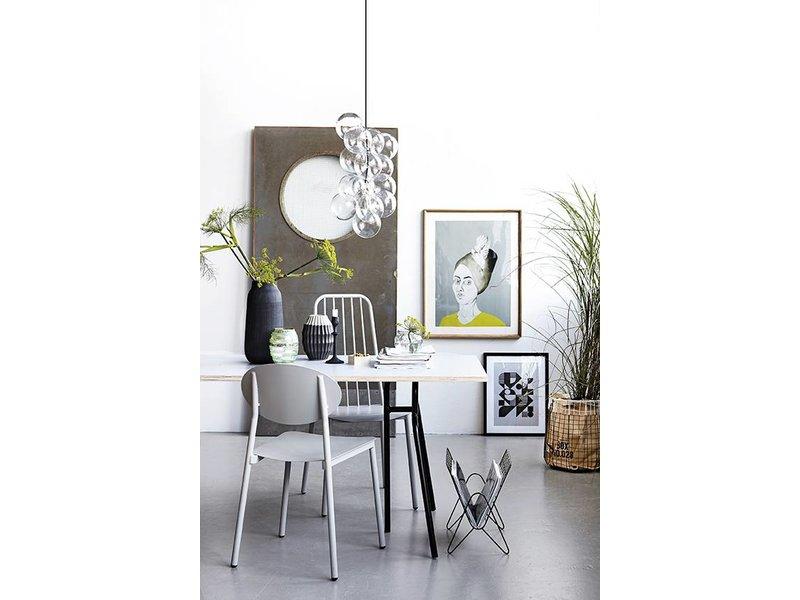 house doctor diy glazen bol lamp living and co. Black Bedroom Furniture Sets. Home Design Ideas