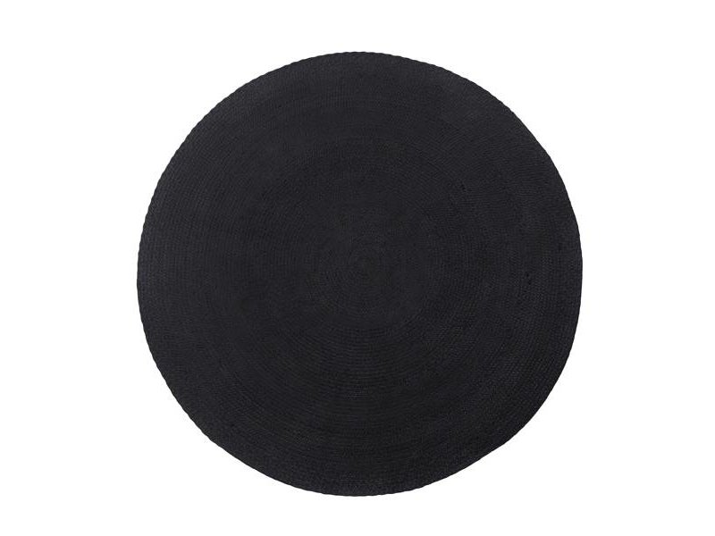 Black Round Rug Rugs Ideas