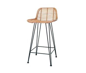 HK-Living silla de la barra rota natural