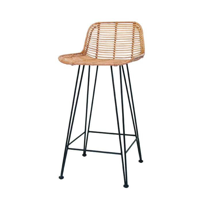 HKLiving Rattan barstool natural LIVING AND CO
