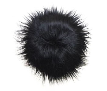 HK-Living Sheepskin 100% wool black