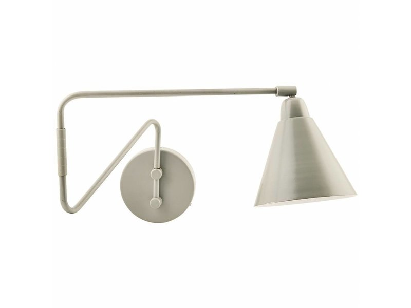 House Doctor Game wall lamp grey metal
