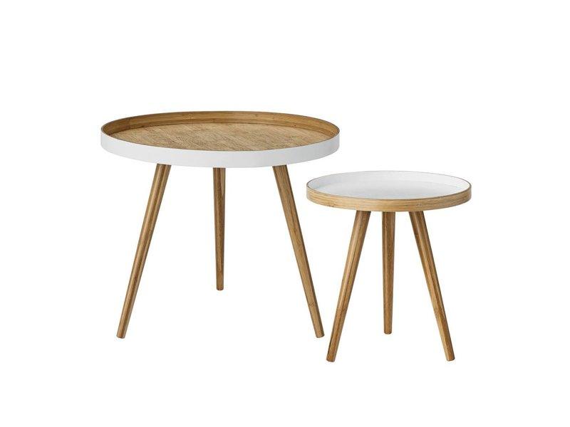 Bloomingville Sofabord sæt af to hvide bambus