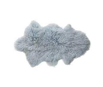 Bloomingville Sheepskin light blue 100% wool