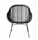 Bloomingville Rattan stol sort