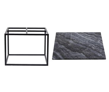 House Doctor Coffee table grey marble metal