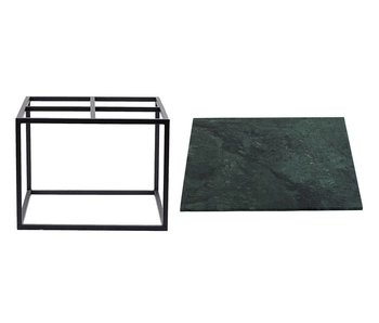 House Doctor Coffee table green marble metal
