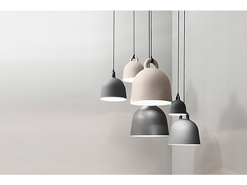 normann copenhagen bell x small hanging lamp grey living. Black Bedroom Furniture Sets. Home Design Ideas