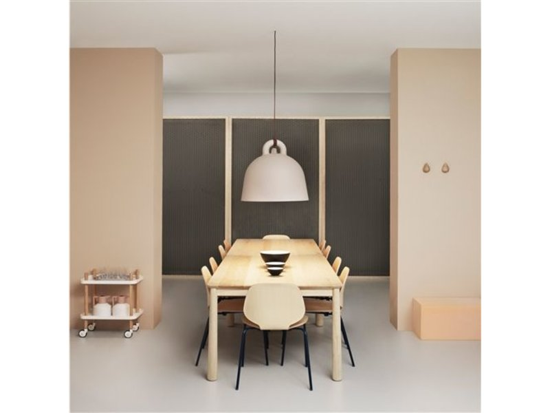 Normann Copenhagen Bell Small hanging lamp sand - LIVING AND CO.