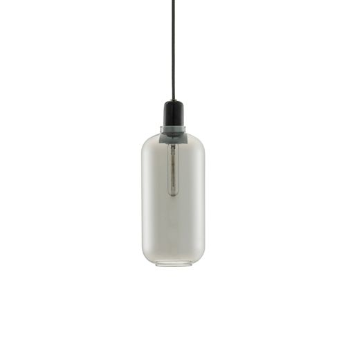 Normann Copenhagen AMP Large hanging lamp smoke black LIVING AND CO