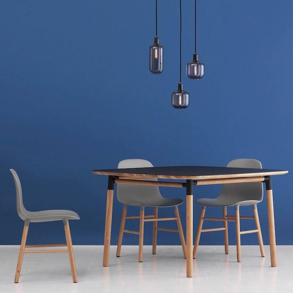 normann copenhagen amp large hanging lamp smoke black. Black Bedroom Furniture Sets. Home Design Ideas