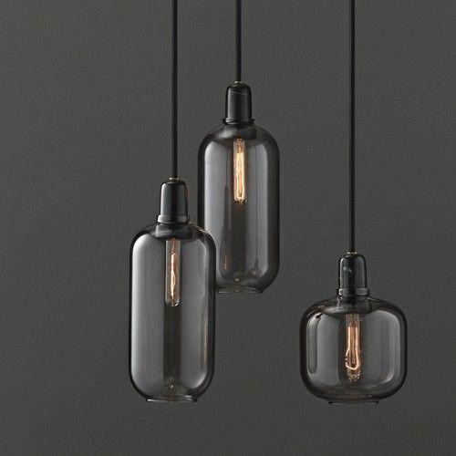 normann copenhagen amp stor h ngende lampe sort r g living and co. Black Bedroom Furniture Sets. Home Design Ideas