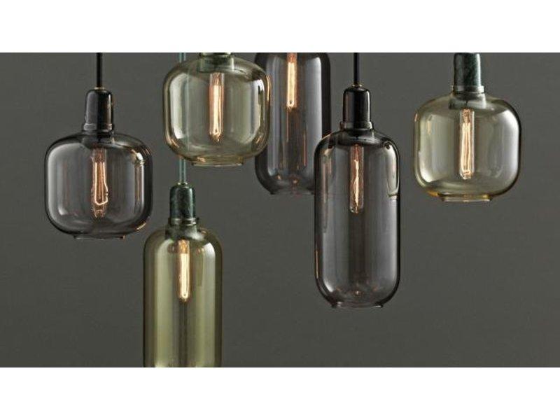 normann copenhagen amp large hanging lamp gold green. Black Bedroom Furniture Sets. Home Design Ideas