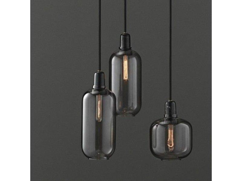 normann copenhagen amp small hanging lamp smoke black. Black Bedroom Furniture Sets. Home Design Ideas