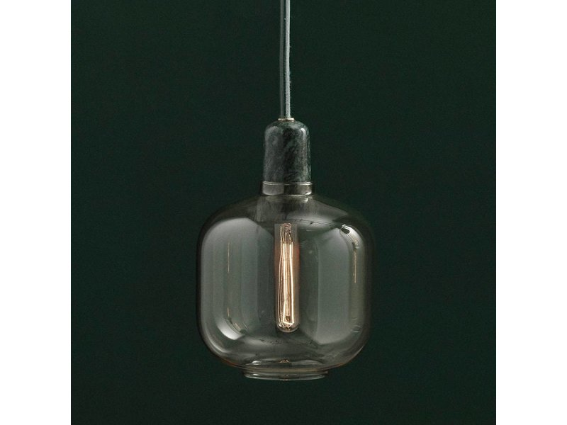 normann copenhagen amp small hanging lamp gold green. Black Bedroom Furniture Sets. Home Design Ideas