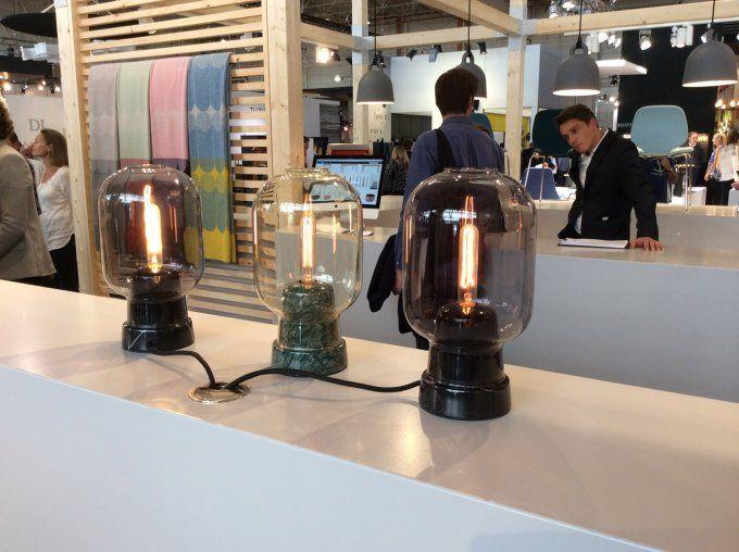 normann copenhagen amp small table lamp smoke black. Black Bedroom Furniture Sets. Home Design Ideas