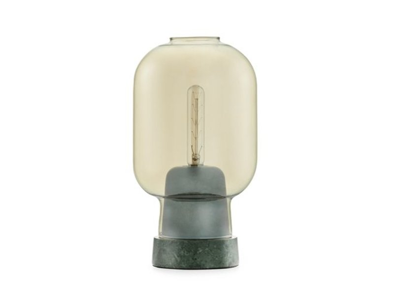normann copenhagen amp small table lamp gold green. Black Bedroom Furniture Sets. Home Design Ideas