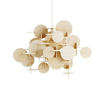 Normann Copenhagen Bau Small hanging lamp nature wood