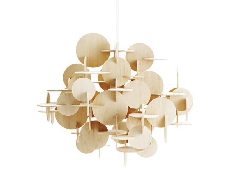 normann copenhagen bau large hanging lamp nature wood. Black Bedroom Furniture Sets. Home Design Ideas
