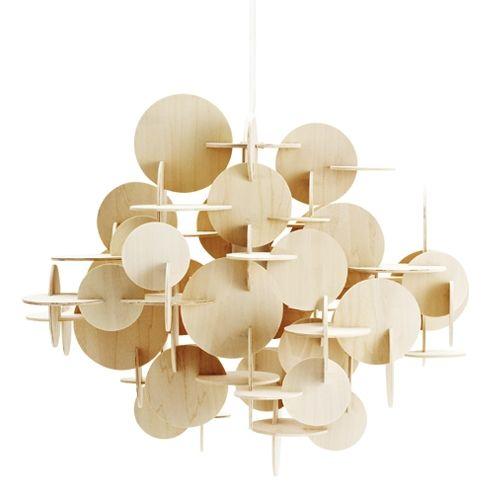 normann copenhagen bau large hanglamp nature hout living. Black Bedroom Furniture Sets. Home Design Ideas