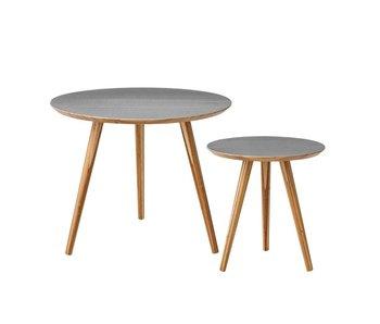 Bloomingville Cortado salontafel set van 2 grijs bamboe