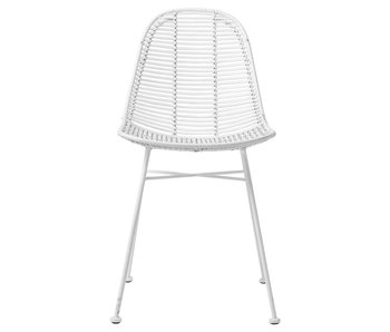 Bloomingville Rotan chair white