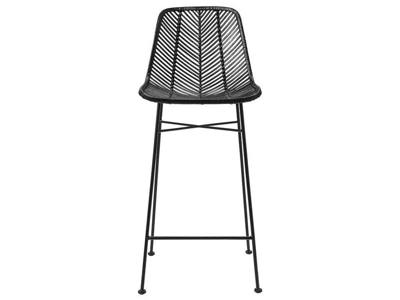 Bloomingville Rattan Barstool Chair Black Living And Company