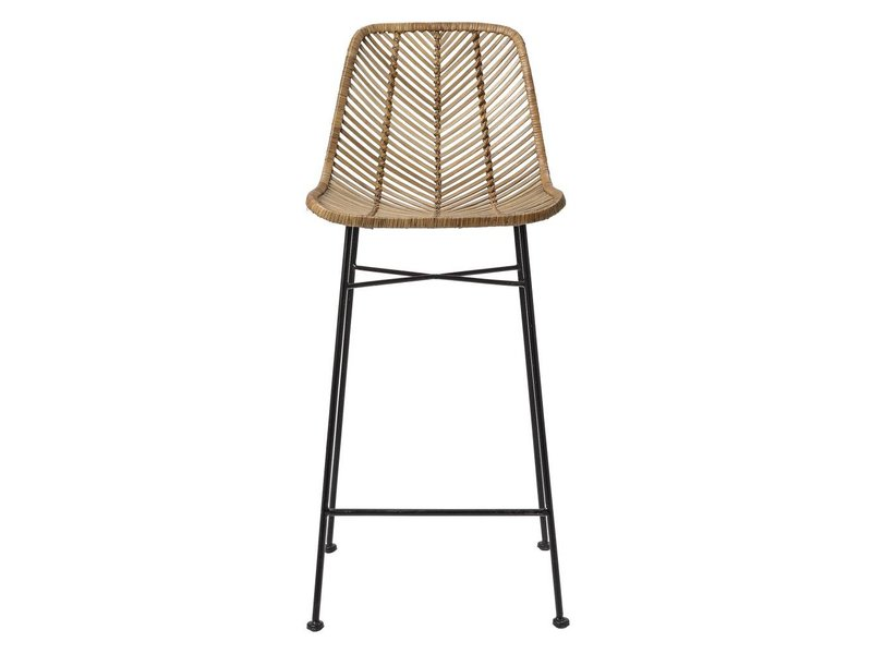 Bloomingville Rattan Barhocker Stuhl natürlich - LIVING AND CO.