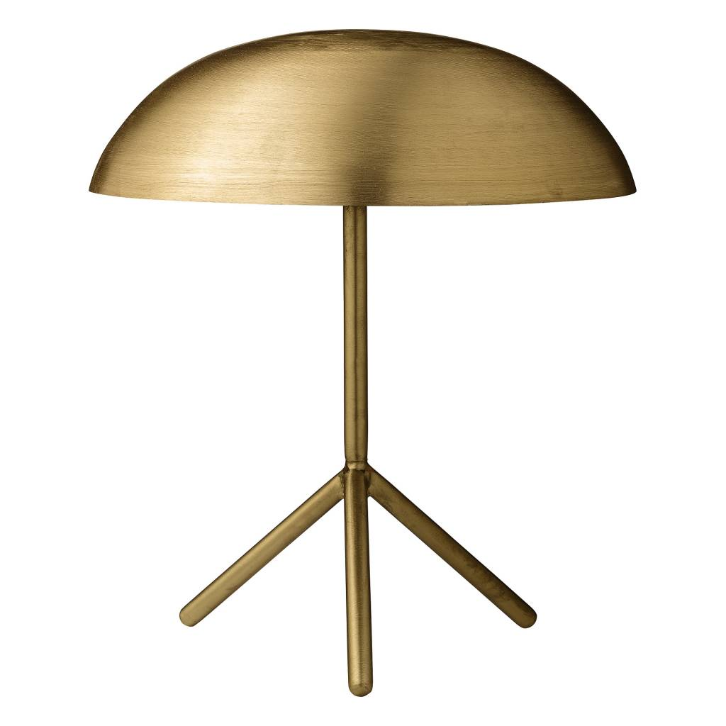 Bloomingville Tripod table lamp brushed gold brass   LIVING AND