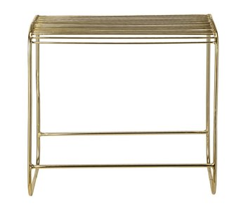 Bloomingville Metallhocker Gold