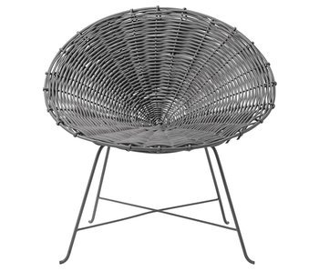 Bloomingville Kubu rattan chair grey