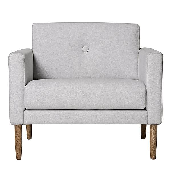 Bloomingville gris clair Fauteuil calme - LIVING AND CO.