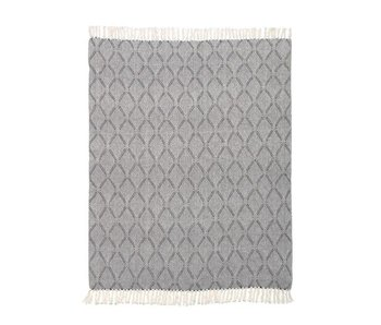 HK-Living Blanket black white cotton